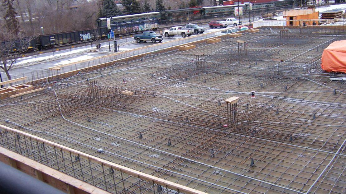 Parkade floor ready for concrete